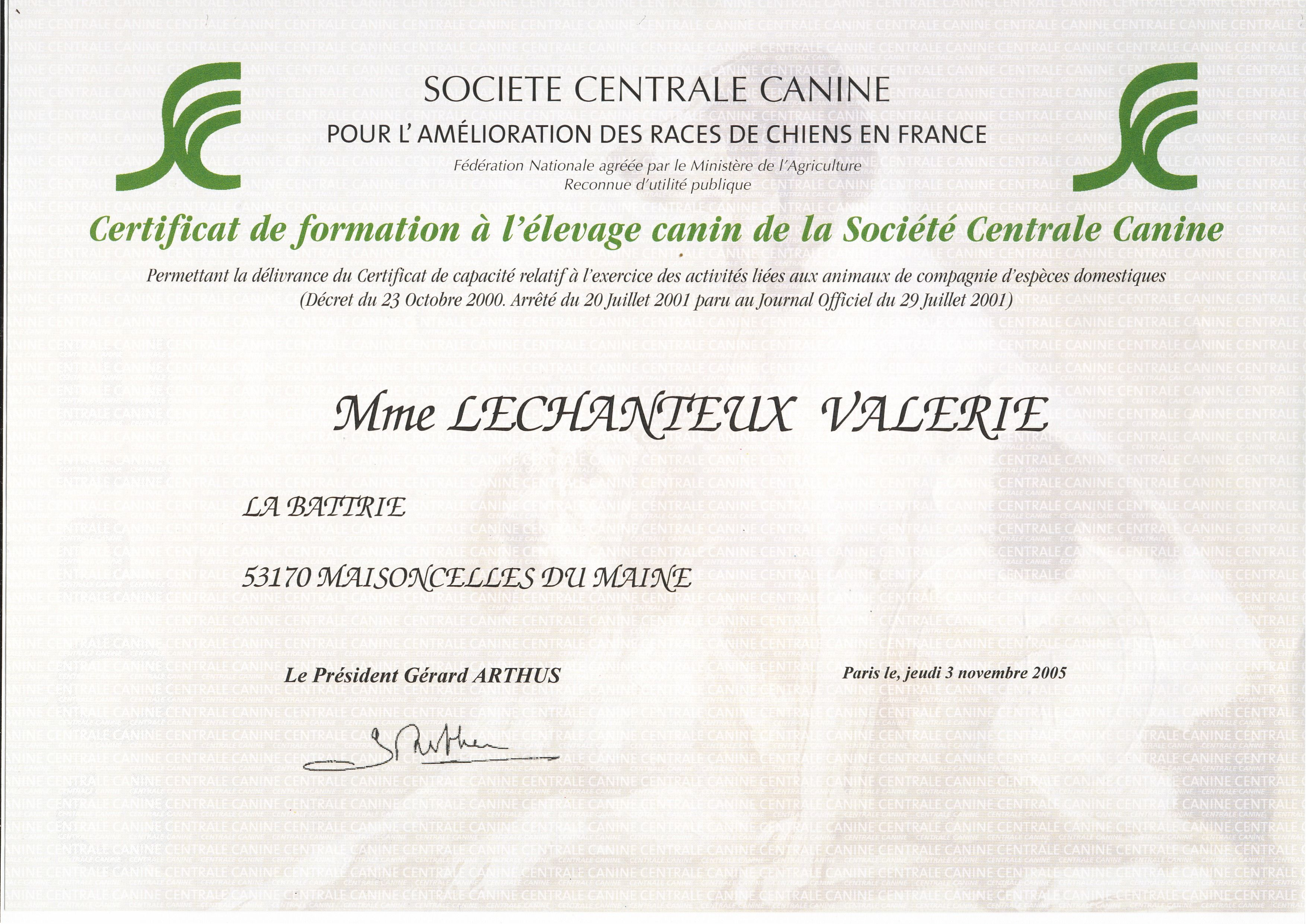 centrale canine eleveur